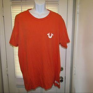 VTG True Religion XXXL Orange White T-shirt